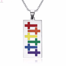 Cheap Fashion Wholesale Gay Pride Silver Necklace Pendants Jewelry
